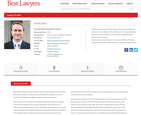 best lawyers profile