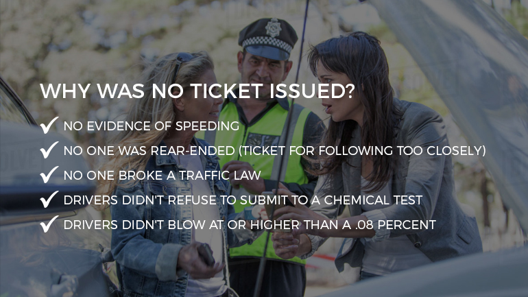 No ticket issued