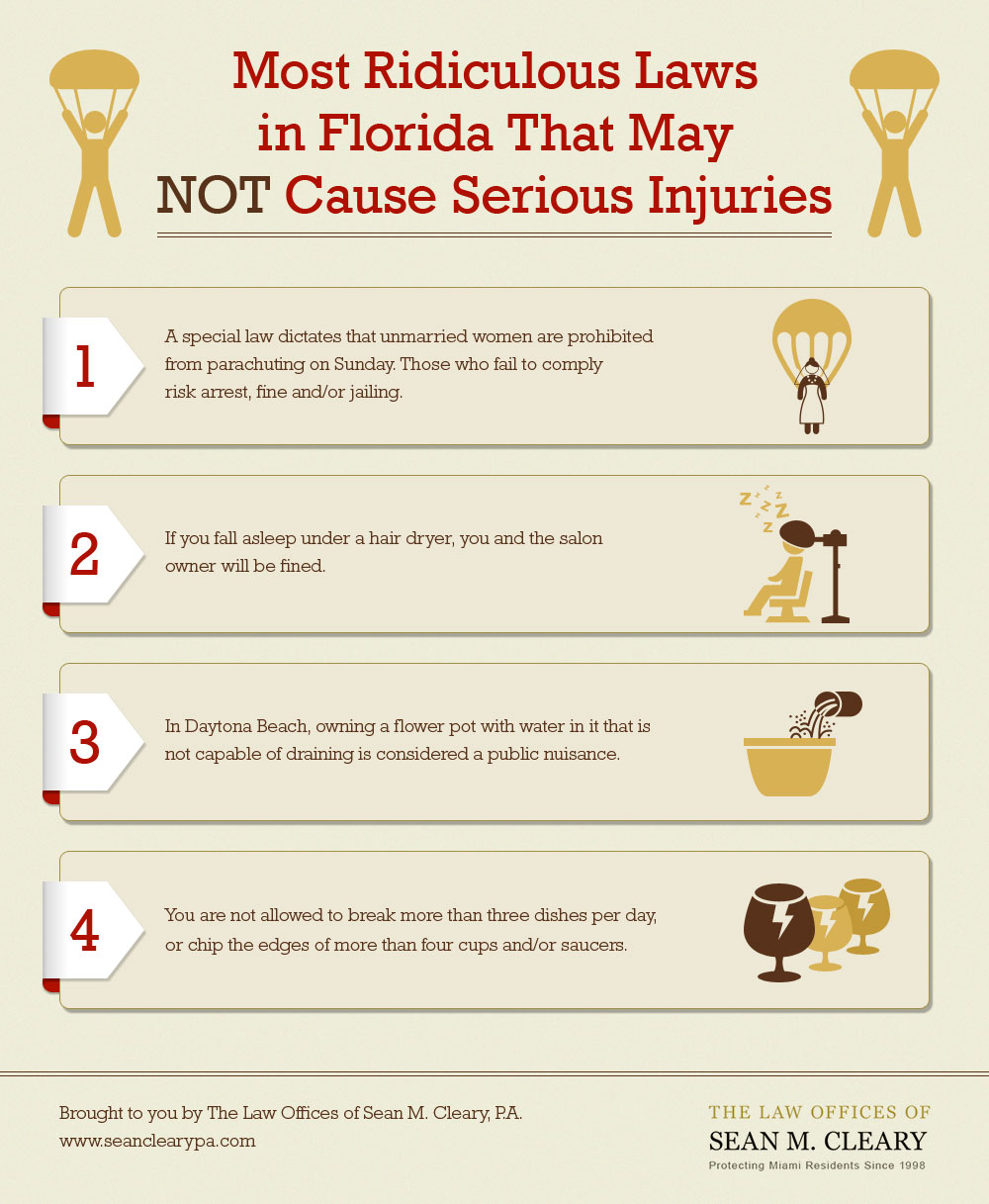 Most Ridiculous Laws in Florida That May NOT Cause Serious Injuries